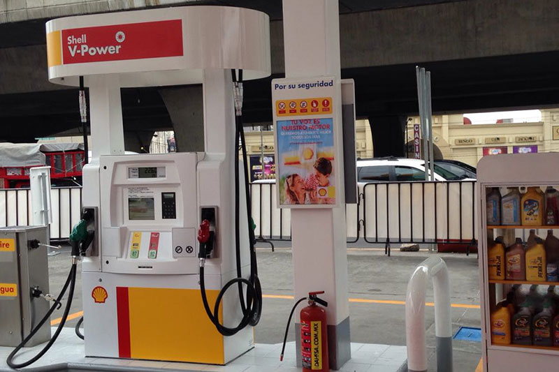 Shell Mexico Gas Station with Bennett Pumps