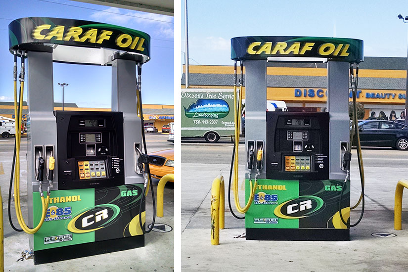 Caraf Oil in Miami, FL expands fuel choices to offer E85 and E15 with Bennett Pacific XB